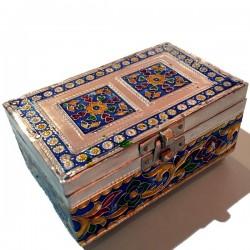 Caja de madera, aluminio...