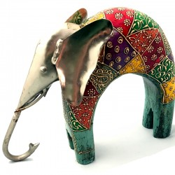 Elefante madera lacado y...