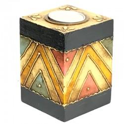 Porta velas madera pintados S.