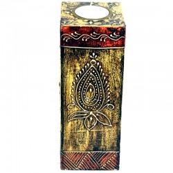 Porta velas madera pintados L.