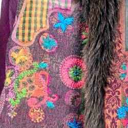 Estola hindú lana estampada...