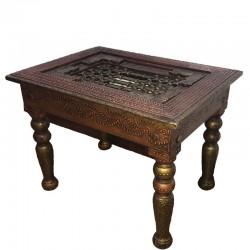 Mesa de madera y metal
