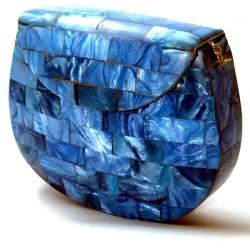 clutch rígido resina azul...